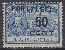 P42: 50 ct Portzegel 1907 overdruk De Ruyter, postfris (MNH), met Befund