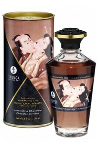 Huile de Massage Comestible érotique Chauffante  100 ml - Shunga 10 Parfums