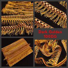 1.5 Meters Fancy Gold Silk Fringe Tassel Trim Saree Gota Border Craft SewOn Lace