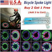 32 LED Flashing Colorful Bicycle Cycling Wheel Spoke Signal Light For Bike RG