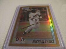 MICHAEL CHOICE 2010 BOWMAN CHROME USA GOLD REFRACTOR ROOKIE CARD 42 / 50