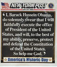 FREE NY POST 01 20 09 President Obama Inauguration Collector's Sold Out Edition