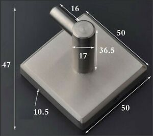 Single Hook Holder Stainless Steel Matt Robe Towel Jacket Coat Bathroom Kitchen