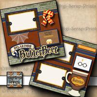 BUTTERBEER ~ HARRY POTTER premade scrapbook pages paper piecing DIGISCRAP A0214