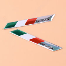 2x Flagge 3D Emblem Aufkleber Italien Italia Motorrad Autoaufkleber schön
