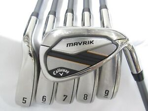 Used Callaway Mavrik Iron Set 5-P Firm Flex Graphite Shafts