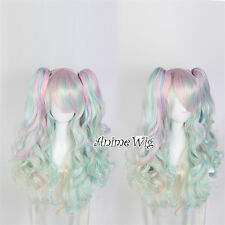 Lolita Multi-Color Long Fashion Harajuku Cosplay Wig Anime Curly Ponytails