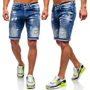 Jeanshose Shorts Jeans Bermudas Kurzhose Hosen Kurze Sport Herren Mix BOLF Denim