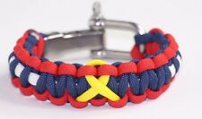 Support Our Troops with Yellow Ribbon Paracord Bracelet Adjustable Shackle