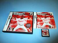 Major League Baseball 2K11 Nintendo DS Lite DSi XL 3DS 2DS Game w/Case & Manual