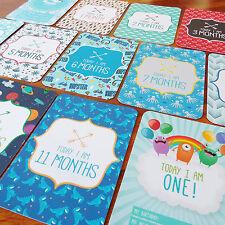 Boys BABY MILESTONE CARDS - *Printed Milestone Cards* Newborn Baby Shower Gift