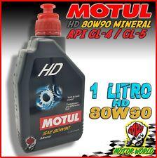 OLIO MOTUL SAE 80W 90 HD MINERALE PER INGRANAGGI SCOOTER MOTO 1 LITRO