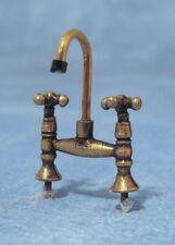 OTTONE antico MIXER TAP, DOLLS HOUSE miniature, D.I.Y apparecchi e accessori