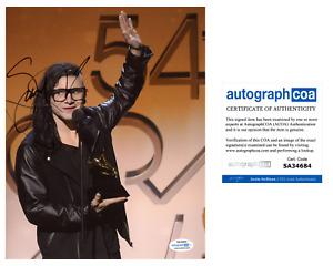 Skrillex EDM DJ Sonny Moore Signed Autographed Grammy Awards 8x10 Photo ACOA
