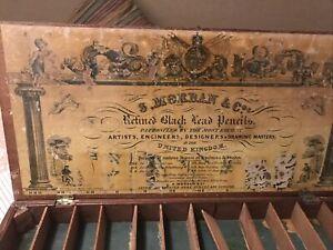 Vintage / Antique 'J Allen From S Mordan & Co.s' Retined Pencil Box - 1832 *RARE