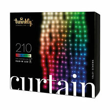 Twinkly 210 LED RGB + White 3.5x7 ft. Curtain Lights, Bluetooth WiFi Controlled