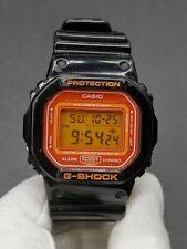 C asio G-Shock DW-5600CS-1 Black Orange Watch Crazy Color Rare