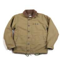 2019 NON STOCK Khaki N-1 Deck Jacket Vintage USN Military Uniform For Men N1