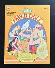 TROPICAL BARBIE Paper Dolls Book, Whitman 1986, Uncut