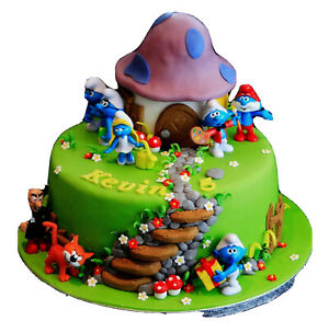 Smurfs Playset 12 pc Figure Cake Topper Cupcake Toppers US SELLER
