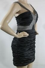 Bcbg Max Azria New Women's Dress Simson Black Ruched PROM Clubwear Dress SZ 12