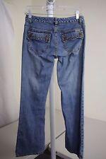 Michael Kors Cotton Blend Stonewashed Low Rise Boot Cut Jeans Size - 2P