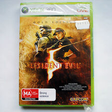 Resident Evil 5 - Gold Edition - Xbox 360 - NEW & Factory Sealed - AUS PAL