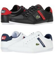 LACOSTE Chaymon 0120 2 Men's Casual Leather Fashion Shoes Sneakers Black White