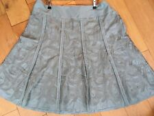 Monsoon Size 22 Duck Egg Embroidered Summer Skirt Cotton Flare A Line A