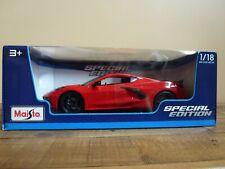 Maisto 1:18 Scale Diecast Model Car - 2020 Chevrolet Corvette Stingray C8 Coupe