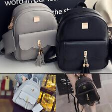 Women Backpack 3 way PU Leather Ladies Girls Rucksack Shoulder Travel School UK