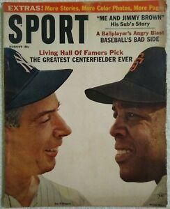 Vintage Sport Magazine Aug 1964 Joe DiMaggio Willie Mays All Star Game Olympics
