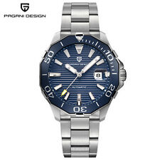 PAGANI DESIGN Mens Watches Date Mechanical  Stainless Steel Wrist Watch Luminous