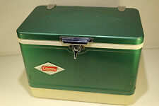 Vintage Coleman Cooler Old Diamond Logo Ice Chest Metal Box Patent Pending