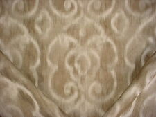 KRAVET CREATIVE GOLD / BROWN ARABESQUE FLORAL SCROLL CHENILLE UPHOLSTERY FABRIC