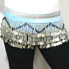 sale HAND MADE BELLY DANCE BELTS HIP SCARF WITH SILVER COINS