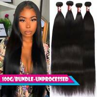 CLEARANCE Straight 1-4 Bundles Brazilian Virgin Human Hair Extensions Weave Weft