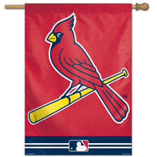 """ST. LOUIS CARDINALS 28""""X40"""" HOUSE FLAG OR WALL BANNER MLB LICENSED USA SELLER"""