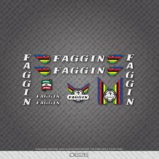 0626 Faggin Vélo Décalcomanies - Blanc Text With Noir Key