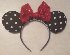Handmade Disney Minnie Mouse Ears- Polka Dots