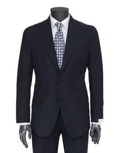 NWT DE PETRILLO Napoli SUIT cotton striped blue luxury handmade Italy 50 us 40