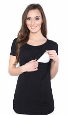 Maternity Pregnancy nursing comfortable Top Blouse Shirt Long / short  sleeve