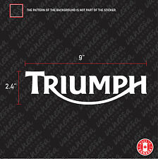 2X  TRIUMPH MOTO LOGO sticker vinyl decal