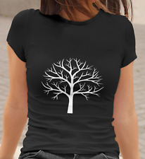TREE with BRANCHES SILHOUETTE Women T-Shirt | Artwork Nature Tree of Life