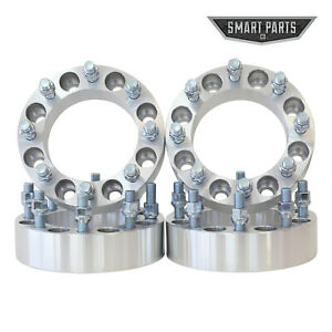 """4 QTY Wheel Spacer 8x6.5 to 8x180 Adapters 1.5"""" Thick 14x1.5 Studs for Chevy GMC"""