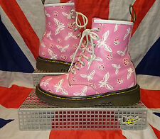 Rare*Pink Rose & Butterfly Dr Doc Martens*Quirky*Summer*Grunge*Floral*Flowers*4