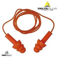 Delta Plus Venitex CONICCO200 Soft Foam Ear Plugs With Cords Case of 200 Pairs