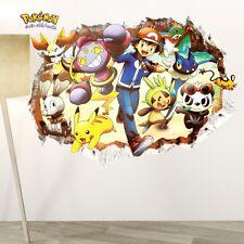 Pokemon - Pikachu, Ash & Friends 3 - 3D Pokemon Go Wall Decals Sticker