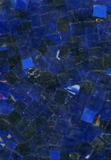 Dark Blue Stained Glass Mosaic Scrap Pack, about 100 Hand Cut Pieces
