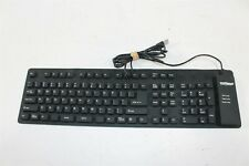 WetKeys KBWKFC109 USB Wired Full-Size Flexible WaterProof Keyboard